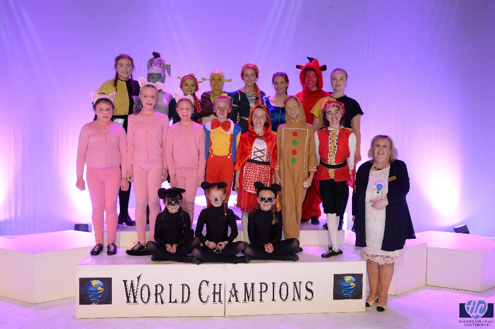 Dance Champions and their teacher